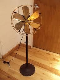 vine industrial ge oscillating tall fan 3 sd art deco rare