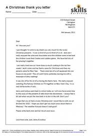 Thank You Letter Examples Pdf Gorgeous A Christmas Thank You Letter Functional English Skills Workshop