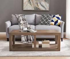 valencia coffee table in a dark wood