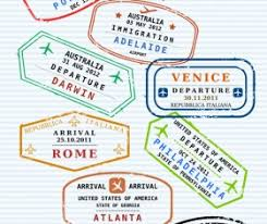 Passport stamps vector for free download