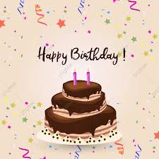 Happy Birthday Typography With Cake Background Happy Birthday