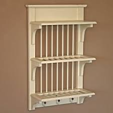 Small Picture Wall Mounted Plate Rack Shabby Chic Amazoncouk Kitchen Home