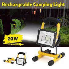 20W su geçirmez taşınabilir şarjlı LED sel ışık açık iş Spot lamba – online  alışveriş sitesi Joom'da ucuza alışveriş yapın