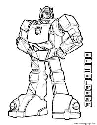 Small Picture Transformers Bumblebee Coloring Pages Printable