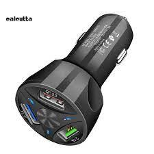 Tẩu sạc nhanh 3 USB cổng QC3.0 tiện dụng cho xe ô tô - Đế sạc đứng
