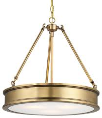 Minka Lavery Harbour Point 3 Light Semi Flush Mount Minka Lavery 4173 249 3 Light Pendant Liberty Gold