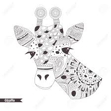 Giraffe Coloring Book For Adult Antistress Coloring Pages