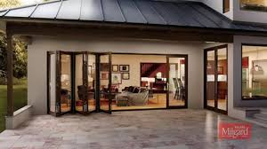 milgard moving glass wall systems bi fold glass door panels