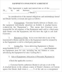 Word Inventory Sample Consignment Agreement Templates Word Inventory