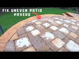 how to fix uneven patio pavers you