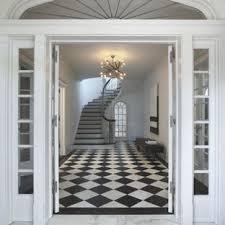 Black And White Tile Floor Entry Ideas Photos Houzz
