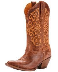 zoomed image ariat women s terra bella full grain leather western boots medium toe tan