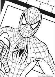Tekeningen Te Schilderen Kleur Spiderman Print Design 012