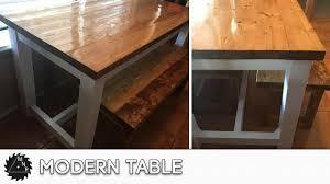 modern kitchen table. DIY Modern Kitchen Table Build E
