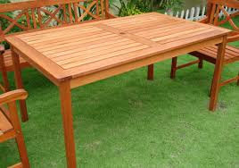 Impressive Wood Patio Dining Table Eucalyptus Patio Table Outdoor Furniture  Wood Dining Set