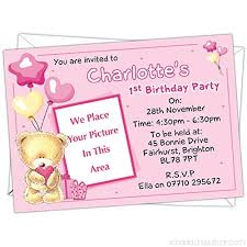 Personalised Birthday Invitations For Kids Personalised Kids Childrens Teddy Bear Themed Birthday Party