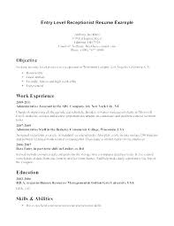 Receptionist Cover Letter Awesome Medical Secretary Resume Sample Objective Receptionist Cover Letter
