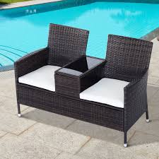 seater rattan chair garden furniture wicker patio love seat outdoor chairs indoor