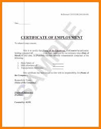 Format Of Employer Certificate 5 Free Printable Certificate Of Employment Form Sample