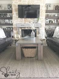 farmhouse coffee table diy