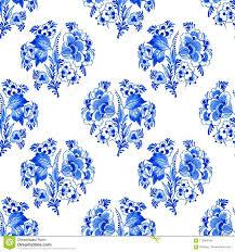 Blauwe De Waterverfachtergrond Van Delft Stock Illustratie
