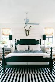 White And Turquoise Bedroom How To Enhance A Dccor With A Black And White Striped Rug
