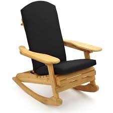 Brilliant Wooden Rocking Chair With Cushion Replacement Cushions And