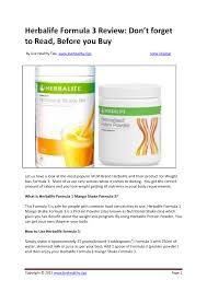 herbalife formula 3 review herbalife protein powder