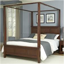 Bedroom : Bedroom Bedroom Brown Wooden Canopy Bed Frame Square ...