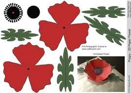 Make A Paper Poppy Flower Poppy 3d Paper Flower