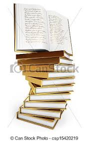 pile of books book of poems csp15420219
