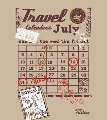Travel Calendar Travel Calendar Kidsfashionvector Cute Vector Art For Kids Clothes
