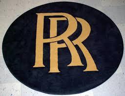 rolls royce logo rug