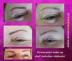 Permanentní Make Up Obočí Vláskování Permanentní Make Up