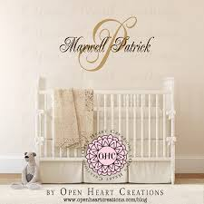 initial with name overlay personalized custom made wall decal nursery wall decals http  on custom made wall art stickers with initial with name overlay personalized custom made wall decal