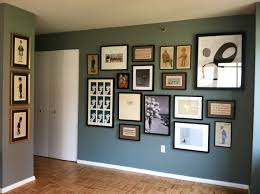 ... Picture Wall Art Display Hanging Wall Green Door Ceiling White Wooden  Floor Posters Boards System Diy ...
