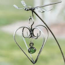 garden hooks. Heart Sculpture Unique Garden Art Metal Hooks O