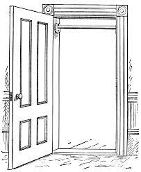 open door clipart black and white. Door Clipart Black And White Open P