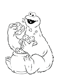 Free Sesame Street Coloring Pages Sesame Street Coloring Pages