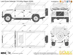 Land Rover Defender Interior Dimensions Blueprint