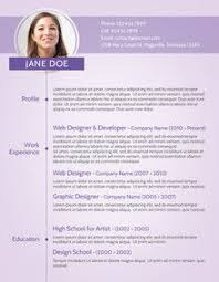 Example Modern Resume Template Purple Modern Cv Sample Recruiter Modern Resume Resume Resume
