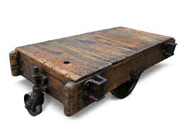 Industrial Factory Cart Coffee Table Vintage Factory Cart Coffee Table Olde Good Things