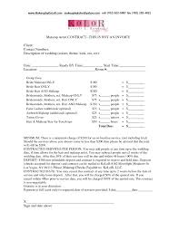 makeup artist contract for weddingservice laweddingmakeup los angeles wedding 7l5bwtg8 invoice template software forms sle format
