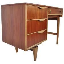 walnut and birch writing desk by american furniture company