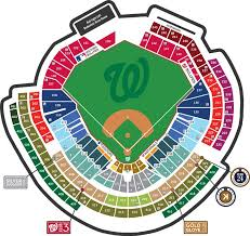 Nationals Park Concert Seating Chart Nationals Park Seating Map In 2019 Nationals Baseball