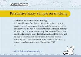 Effects Of Smoking Persuasive Essay