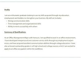 Resume Summary For Students New Example Of Entry Level Resume Resume