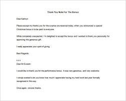 Sample Thank You Letter To Boss For Bonus | Cover Letter