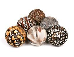 Decorative Balls For Bowls New Home Décor Feather Balls from Jodhpuri Inc 58
