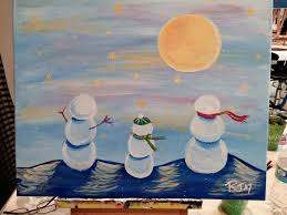 photo of uptown art denville nj united states snowmen at night